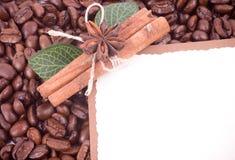 кофе циннамона фасолей Стоковая Фотография