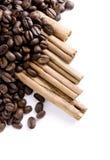 кофе циннамона фасолей Стоковые Фото