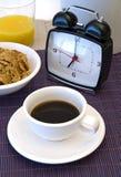 кофе часов завтрака сигнала тревоги Стоковое Изображение