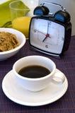 кофе часов завтрака сигнала тревоги Стоковые Фото