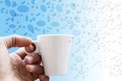 Кофе чашки на предпосылке Используя обои для пакета или продукта, для космоса кафа или изображения и экземпляра утра Стоковое Изображение