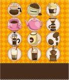 кофе шаржа карточки Стоковое фото RF