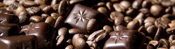 кофе шоколада знамени Стоковое Изображение