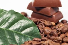 кофе шоколада предпосылки Стоковые Изображения RF