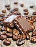 кофе шоколада фасолей Стоковая Фотография