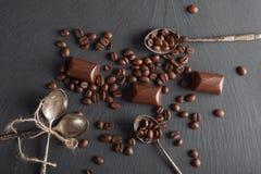 кофе шоколада конфет фасолей Стоковая Фотография