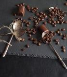 кофе шоколада конфет фасолей Стоковое фото RF