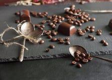 кофе шоколада конфет фасолей Стоковое Фото