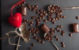 кофе шоколада конфет фасолей Стоковые Изображения
