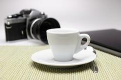 Кофе эспрессо в офисе Стоковое Изображение RF
