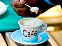Кофе эспрессо со своим славным foarm Стоковое фото RF