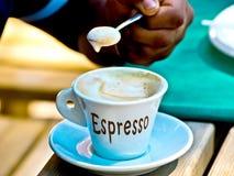 Кофе эспрессо со своим славным foarm Стоковое Изображение