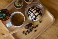 Кофе Affogato/чашка фокуса стоковые изображения