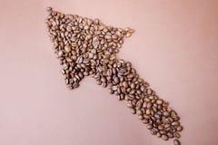 кофе bg абстрактных фасолей стрелки коричневый Стоковое Изображение RF
