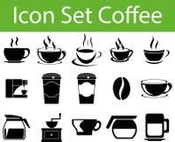 Кофе i значка установленный Стоковые Изображения