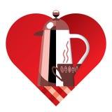 кофе i любит Стоковые Фотографии RF