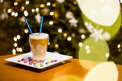 Кофе Latte с пеной Стоковое Изображение RF