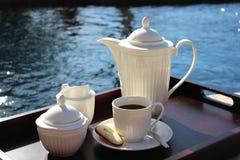 Кофе Poolside Стоковая Фотография RF