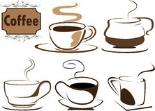 кофе s иллюстрация штока