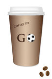 Кофе takeout - футбол Иллюстрация штока