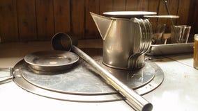 Кофе Tradituonwl старой школы делая инструменты Стоковое Изображение