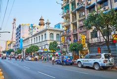 Кочка Hall в Янгоне, Мьянме стоковое фото rf