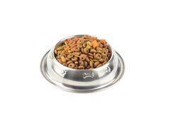 Кошачья еда в железном шаре Стоковая Фотография