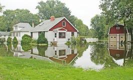 кошмар s владельца дома flooding Стоковое Фото