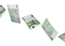 100 коллажей счета евро изолированных на белизне Стоковые Изображения RF