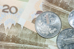 Коллаж банкнот или юаней Rmb китайца Стоковые Фото