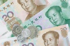 Коллаж банкнот или юаней Rmb китайца Стоковые Фотографии RF