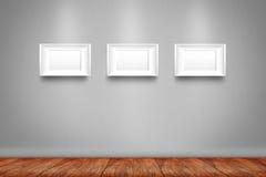 Коллаж 3 белых рамок фото Стоковая Фотография