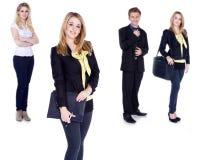 Коллаж бизнес-леди и человека Стоковые Изображения RF