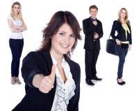 Коллаж бизнес-леди и человека Стоковые Фото