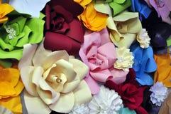 Коллаж бумажных цветков Origami Стоковые Фото