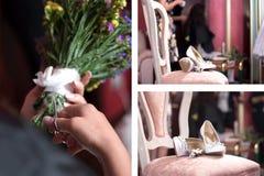 Коллаж венчания Стоковое Изображение