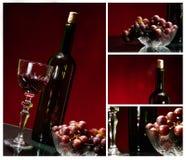 Коллаж вина Стоковые Фотографии RF
