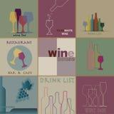 Коллаж вина Стоковое Изображение