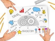 Коллаж выражая концепцию успеха в бизнесе Стоковые Фотографии RF