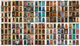 Коллаж европейских дверей Стоковые Изображения