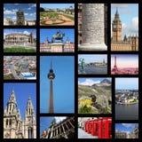 Коллаж Европы Стоковая Фотография