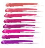 Коллаж декоративной губной помады косметик на белой предпосылке Красота и концепция состава Стоковая Фотография RF