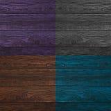 Коллаж деревянных поверхностей 4 другого цвета Стоковые Изображения