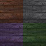Коллаж деревянных поверхностей 4 другого цвета Стоковое фото RF
