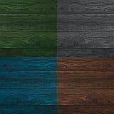 Коллаж деревянных поверхностей 4 другого цвета Стоковая Фотография