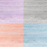 Коллаж деревянных поверхностей 4 другого цвета Стоковое Изображение