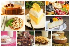 Коллаж десерта Стоковое Фото