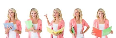 Коллаж женщины студента стоковые фото