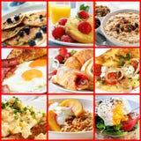 Коллаж завтрака стоковое фото