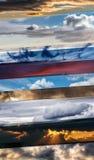Коллаж изображений различного неба Стоковая Фотография RF